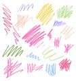 color pencil texture vector image vector image