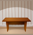 cartoon room wooden table vector image
