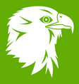 eagle icon green vector image