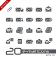 Email Icons Basics vector image