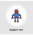 Robot toy flat icon vector image