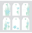 Set of floral tags Blank labels Fowers vector image