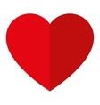 simple red heart icon vector image
