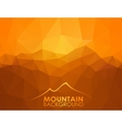 Triangle geometrical background with mountains vector image