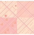 Seamless plaid pink pattern set vector image