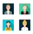 girl with pigtails businessman businesswoman vector image