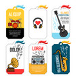 music tags or musical labels or banners with vector image vector image
