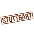 stuttgart brown square stamp vector image