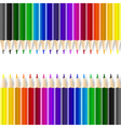 Color pencils on white background vector image vector image