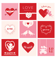 Set of Love Cards for Valentines Day vector image