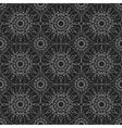 Silver geometric seamless ornament vector image