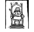 King on Throne vector image