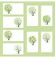 Set of business cards floral trees for your design vector image vector image