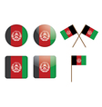 badges with flag of Afghanistan vector image vector image
