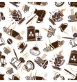 Coffee cups and espresso machine seamless pattern vector image vector image