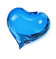 Blue heart vector image
