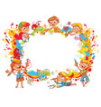 children paint abstract abstract color splash vector image