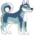 dog husky vector image
