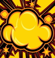 Explosion Comic Book Explosion Background vector image