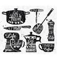 Kitchen symbol vintage lettering restaurant vector image