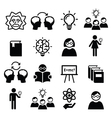 Knowledge creative thinking ideas icons vector image