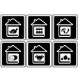 set food icons on home vector image