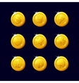 Icons coins for the game interface vector image