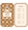 menu for cafe vector image vector image