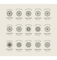 Yoga Studio Logo Templates Set vector image