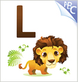 Animal alphabet for the kids for the Lion vector image vector image