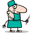 surgeon doctor cartoon vector image vector image