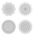 set of floral mandalas vector image