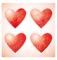 ornamental hearts vector image
