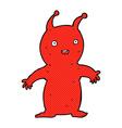 comic cartoon happy little alien vector image