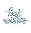 best wishes hand lettering inscription handwritten vector image