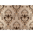 Brown damask seamless vector image