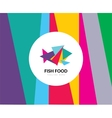 Abstract element Fish food logo template vector image