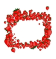Frame made from strawberry for your design vector image