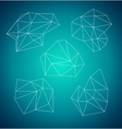 Geometric abstract low-poly shape Blue background vector image