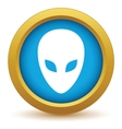 Gold extraterrestrial icon vector image