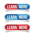 Learn more button set vector image