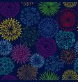 night firework seamless pattern celebration vector image