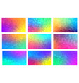 polygon mosaic backgrounds set colorful vector image