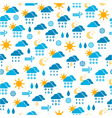 seamless pattern of weather icons vector image
