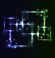 Abstract background set square bubbles with light vector image