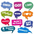 Weddings phrases in speech bubbles photo vector image vector image