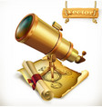 horoscope and telescope astrology 3d icon vector image vector image