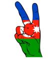 Peace Sign of the Azerbaijani flag vector image