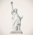 United States or statue of liberty vector image vector image