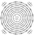 Set of decorative ethnic round frames and corner vector image